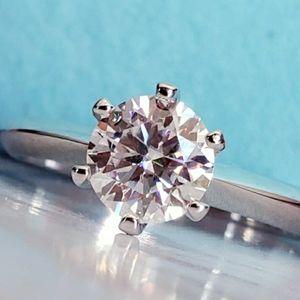 1CT Moissanite Diamond Ring sz9